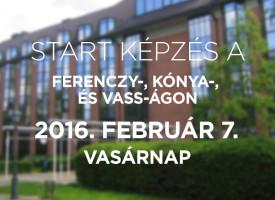 Start a Ferenczy-, Kónya-, és Vass-ágon, vasárnap